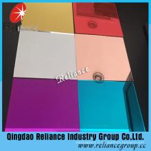 Miroir coloré rose / gris / rouge / vert pour la décoration