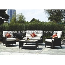 Outdoor Leisure Wicker Möbel 4 pc Chat-Set