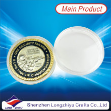 Gold and Silver Coin Dual Plating Military Metal Coins (LZY1300032)