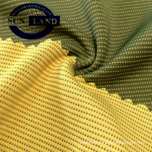 bamboo carbon polyester with coolmax polyester interlock fabric
