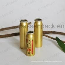 Golden Aluminum Aerosol Can for Waterproof Oil Mist Spray (PPC-AAC-040)