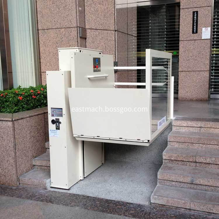 High Tech Home Indoor Lift Inclined Wheelchair Lift