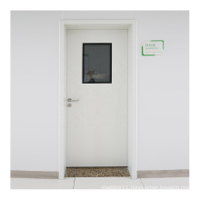 internal filling high-strength paper honeycomb hospital steel door made in china