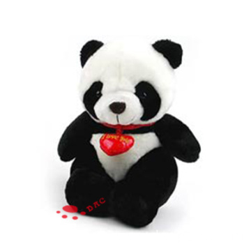 Plush love panda toy
