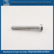 Parafusos de hexágono DIN933 de aço inoxidável