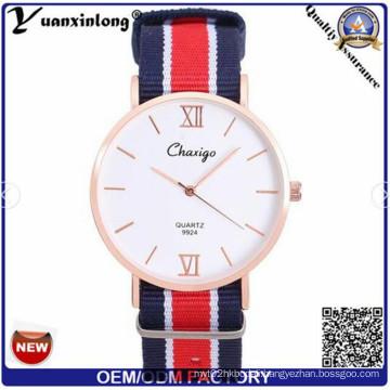 Yxl-519 Fashion Unisex Military Style Nylon Nato Strap Watch Band Quartz Wrist Watch