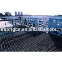 Grille de plancher, plate-forme en acier, grille de cheminée