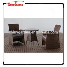 3pcs rattan bistro set, rattan garden dining set, table and chair restaurant set