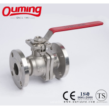 2PC Flanged Ball Valve with Mounting Pad