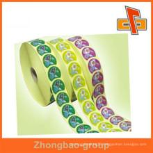 2015 Custom printing self adhesive sticker roll