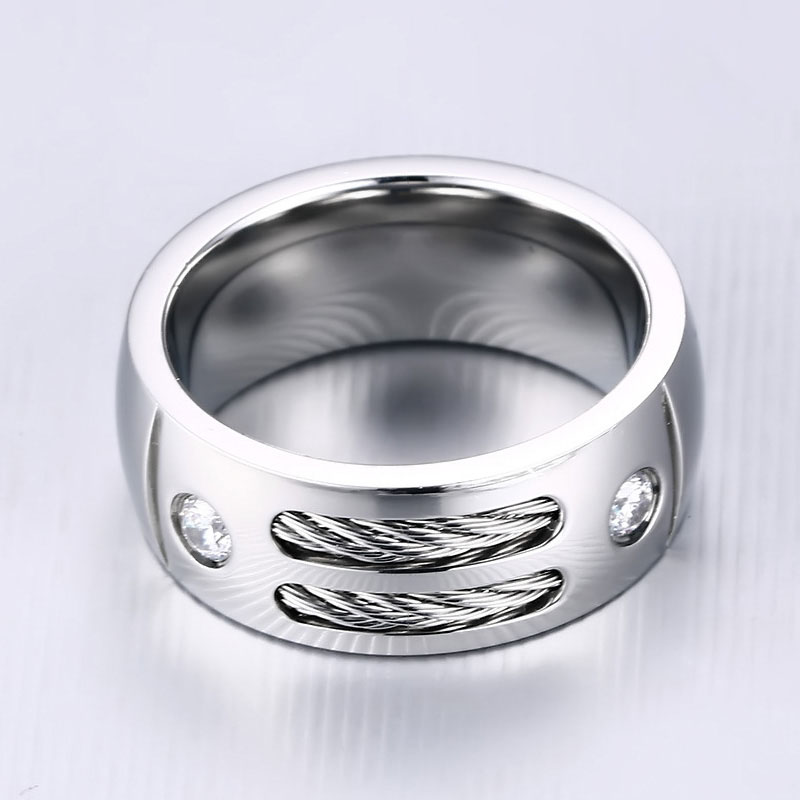 Mens Cable Ring