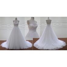 Beading Bodice A Line Wedding Gown Bridal Dress