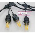 Outdoor String Lichter mit 15 Lichter (3 Extra S14 Glühbirnen) und 13 Fuß passenden Verlängerungskabel - kommerzielle wetterfeste Terrasse UL