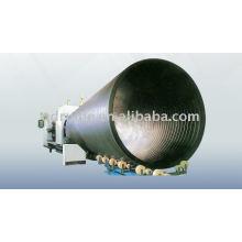 Fabrico de grande diâmetro oca-parede ferida tubo PEAD Line14 produção