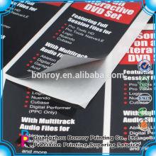 Оптовая печать пользовательские легкий шелушиться лоснистая бумага стикера