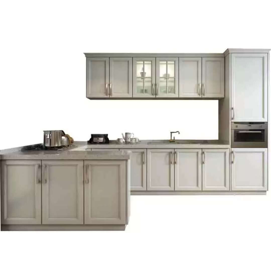 luxury ivory color modular kitchen cabient