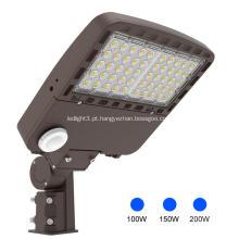 5000K luzes de rua LED Shoebox luzes de poste 200W