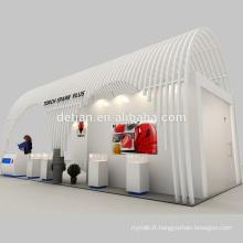 L'offre de Detian arche porte en bois stand exposition stand d'exposition avec étagère d'affichage avec design 3d gratuit