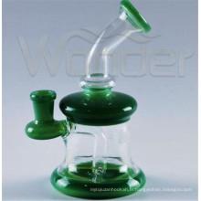 Pipe de fumage en verre Wonder en gros avec plus de couleur disponible