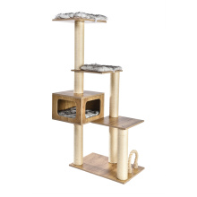 China Factory Newest Design Luxury Cat House Tree Scratcher
