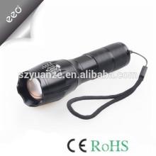 T6 lanterna LED Zoomable Focus tocha por 1 * 18650 ou 3 * lanterna AAA