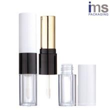 Duo Plastic Lipstick Case and Lip Gloss Case
