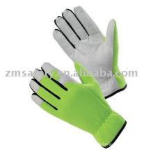 Pig/Goat Skin Leather Mechanic Gloves ZM350-L