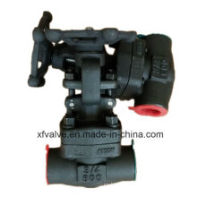 ANSI Forged Carbon Steel A105 Thread Gate Valve