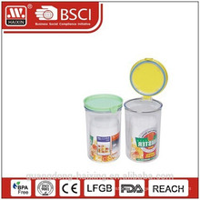 round plastic storage canister