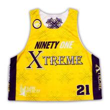 Chemises / maillots / maillots sans manches personnalisés réversibles de sublimation Mesh Lacrosse sans manches