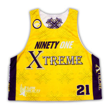 Custom Reversible Sublimation Mesh Lacrosse Sleeveless Shirts/Jerseys/Wear