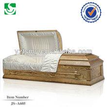 cercueil couvert de tissu classique