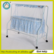 Comfortable white portable folding baby bassinet baby cradle