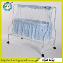 Confortável portátil branco dobrável baby berço berço