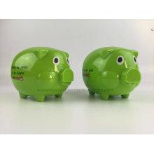 Cute Plastic Pig Money Box with Customized Logo