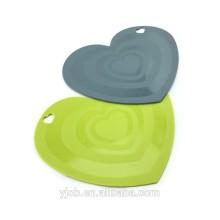 comedor con forma de corazón mantel taza estera posavasos de silicona