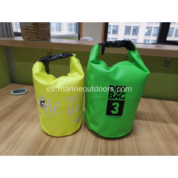 Bolso seco impermeable durable al por mayor del rollo del logotipo del PVC 2L impermeable al por mayor pequeño
