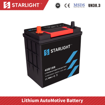 Batterie de voiture 12V 40B19R LiFePO4 (type standard)