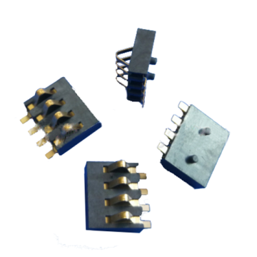 4-circuit batterijconnector 2,5 mm centra H = 3,0 mm