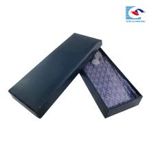 boîte noire mat de luxe d'emballage de cravate épaisse de carton