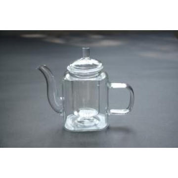 Tableware Handblown 350ml Transparent Borosilicate Glass Teapot with Infuser