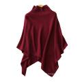 Women's poncho sweater color dot yarn cashmere knitting fashion turtleneck big shawls