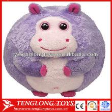Nuevo tipo de hipopótamo en forma de bebé de juguete pelota de peluche de juguete estilo animal peluche bola