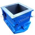 Single 150mm cast iron Concrete Cube Moulds/cast iron moulds for concrete building block