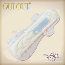 410mm Slim avec feuille supérieure de coton pour l'utilisation de la nuit serviette hygiénique usine pour les femmes l'utilisation des femmes