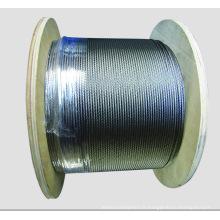 7X7 Dia.1.0mm à 10mm câble en acier galvanisé