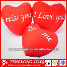2014 new material stuffed valentine's gifts lycra heart shaped pillows