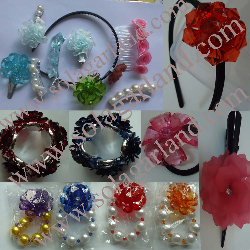 Acrylic Artificial Bead Flowers