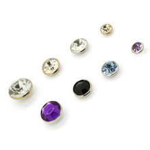 New Arrival Jeans Rhinestone Buttons And Rivets Round Clear Button Pins For Jeans