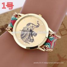 La dernière montre bracelet avec bracelet tissé / lady montres pour femmes BWL025